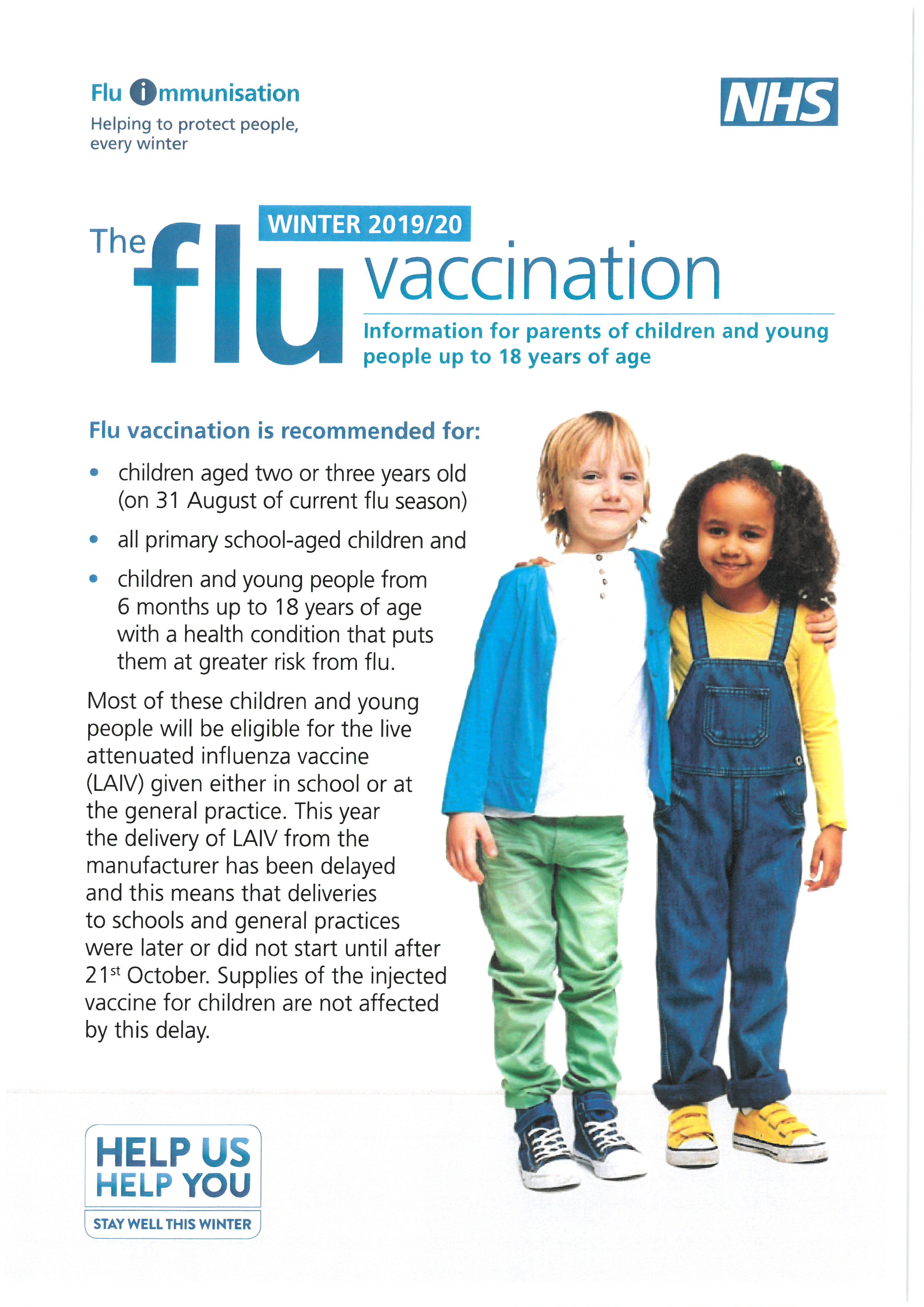 Child Flu Vaccination Information
