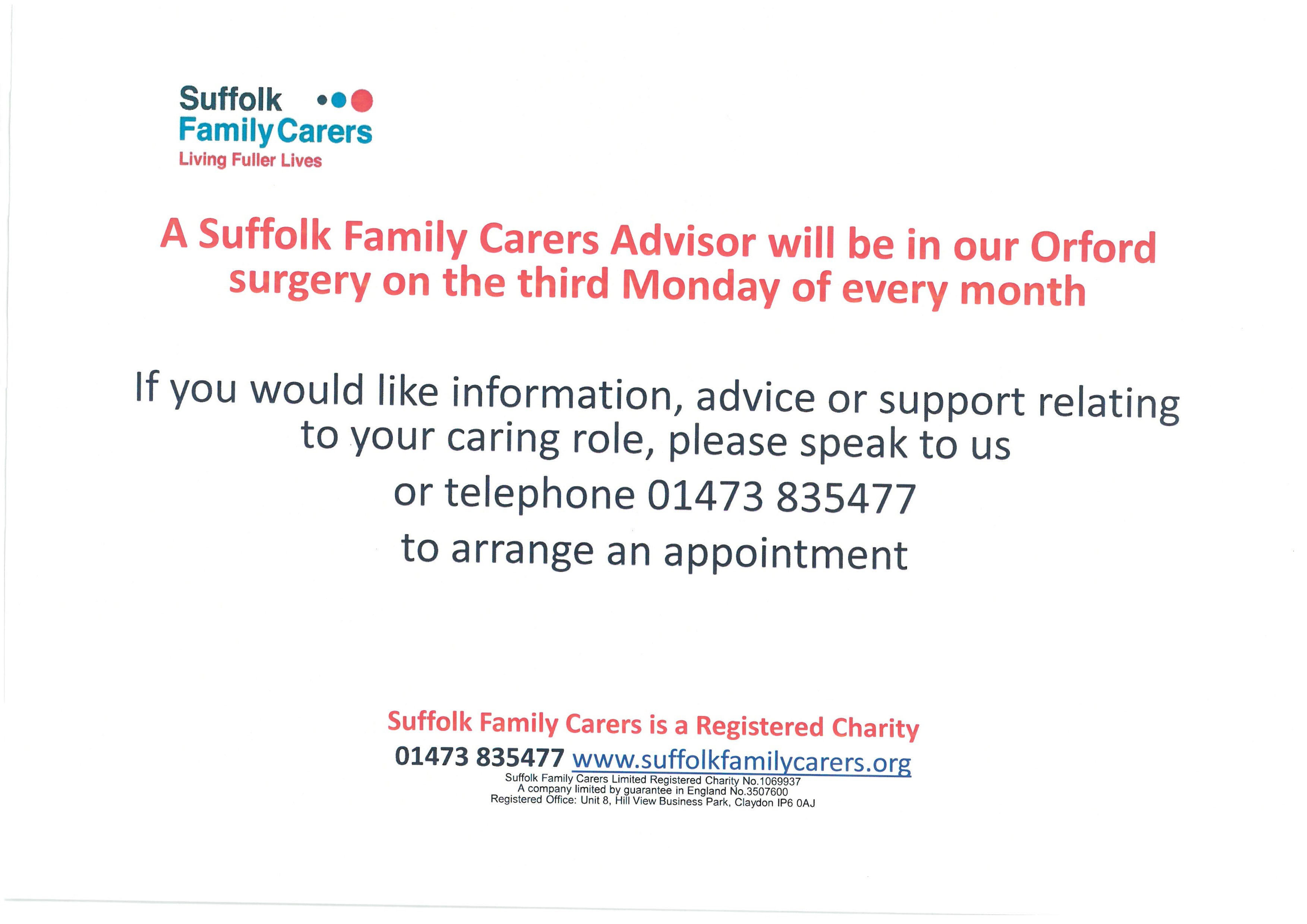 Suffolk Family Carers Advisor